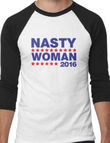 Nasty Woman Hillary Clinton Men's Baseball ¾ T-Shirt