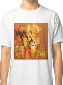 lion in fire Classic T-Shirt