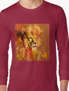 lion in fire Long Sleeve T-Shirt