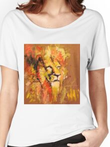 lion in fire Women's Relaxed Fit T-Shirt