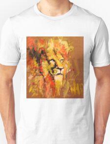 lion in fire Unisex T-Shirt