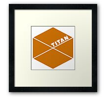 Destiny Game - Titan Symbol Framed Print