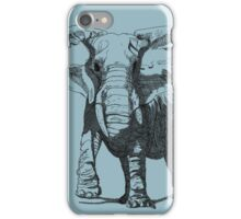 Elephant Pen and Ink Drawing iPhone Case/Skin
