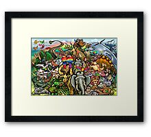 Animals Great and Small Framed Print