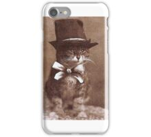 Vintage Cat with a Hat iPhone Case/Skin