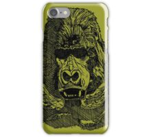 Gorilla Pen and Ink Drawing iPhone Case/Skin
