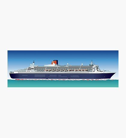 Hi-detailed cruise ship Photographic Print
