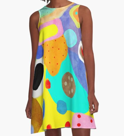 Abstract Unusual weird but wonderful colours A-Line Dress