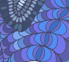 Colourful, patterned, doodle elephant Sticker