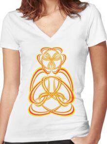 Buda yellow/orange Women's Fitted V-Neck T-Shirt