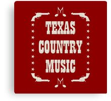 Texas Country Music (white) Canvas Print