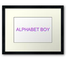 Alphabet Boy Melanie Martinez Framed Print