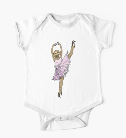 Sloth Ballerina Tutu One Piece - Short Sleeve