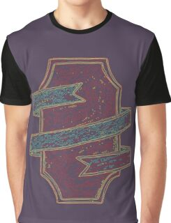 Ribbon Wrapped Shield Graphic T-Shirt