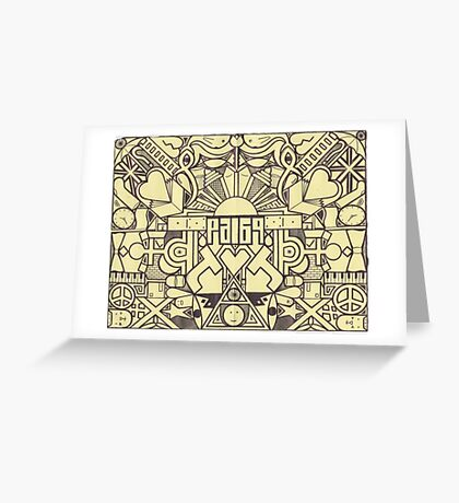 Black And Yellow Greeting Card