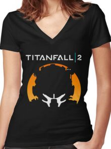 Titanfall II Women's Fitted V-Neck T-Shirt