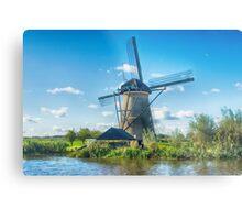 Windmills of Kinderdijk Nederlands (UNESCO Site) Metal Print