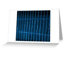 GRATE BLUE Greeting Card