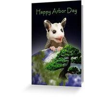 Arbor Day Opossum Greeting Card