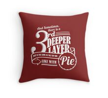 Dr. Horrible's Pie Quote Throw Pillow