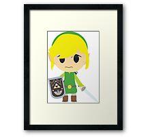 Chibi Toon Link Framed Print