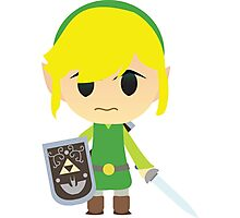 Chibi Toon Link Photographic Print
