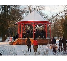12 carols in the bandstand Photographic Print