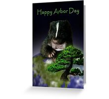 Arbor Day Skunk Greeting Card