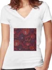 Find a ladybug  Women's Fitted V-Neck T-Shirt