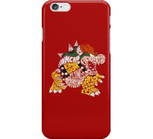 Bowser Typography iPhone Case/Skin