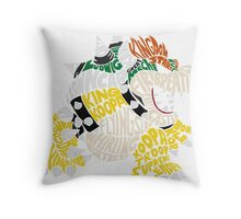 Bowser Typography Throw Pillow