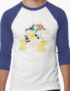 Bowser Typography Men's Baseball ¾ T-Shirt