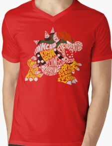 Bowser Typography Mens V-Neck T-Shirt