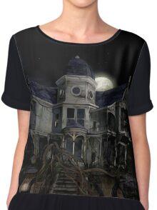 Halloween Haunted House Chiffon Top