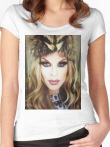 Katya zamo  Women's Fitted Scoop T-Shirt
