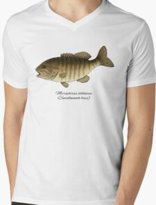 Smallmouth bass Mens V-Neck T-Shirt