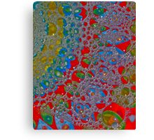 Bubbly Patterns Abstract Canvas Print
