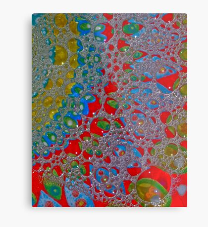 Bubbly Patterns Abstract Metal Print