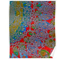 Bubbly Patterns Abstract Poster