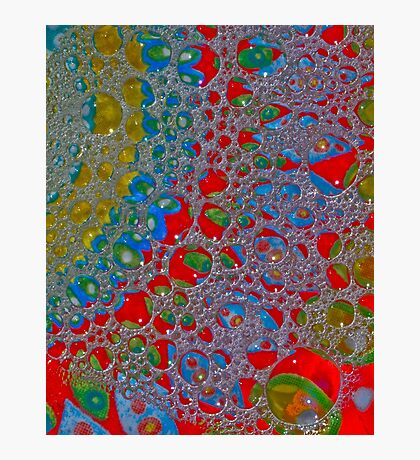 Bubbly Patterns Abstract Photographic Print