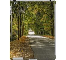 The road between yellow trees iPad Case/Skin
