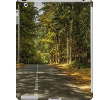 The road between  trees iPad Case/Skin