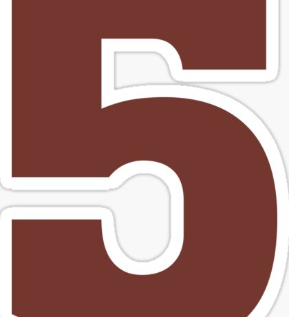 Big Maroon Number 5 Five  Sticker