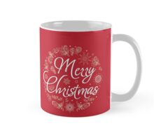 Christmas Card. Hand drawn vector illustration. Mug