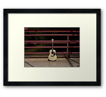 Guitars About Town - bridge Framed Print