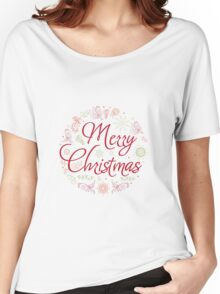 Christmas Card. Hand drawn vector illustration. Women's Relaxed Fit T-Shirt