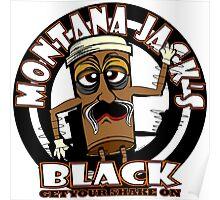 Montana Jack's Black - White Background Poster