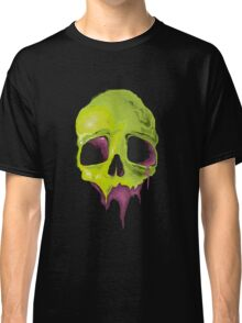 Big Liquid Skull - Creepy Green Head Skull Halloween  Classic T-Shirt