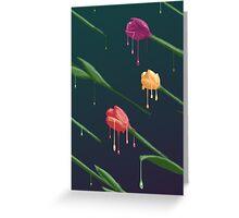 Melting Tulips Greeting Card