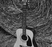Guitar - black and white by Stacie Forest